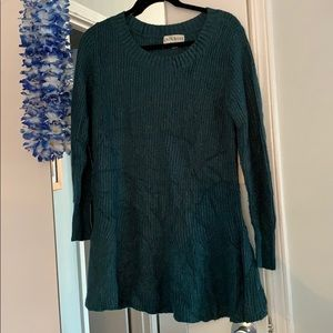 Sparkle Teal Cozy Sweater Tunic Knox Rose Medium